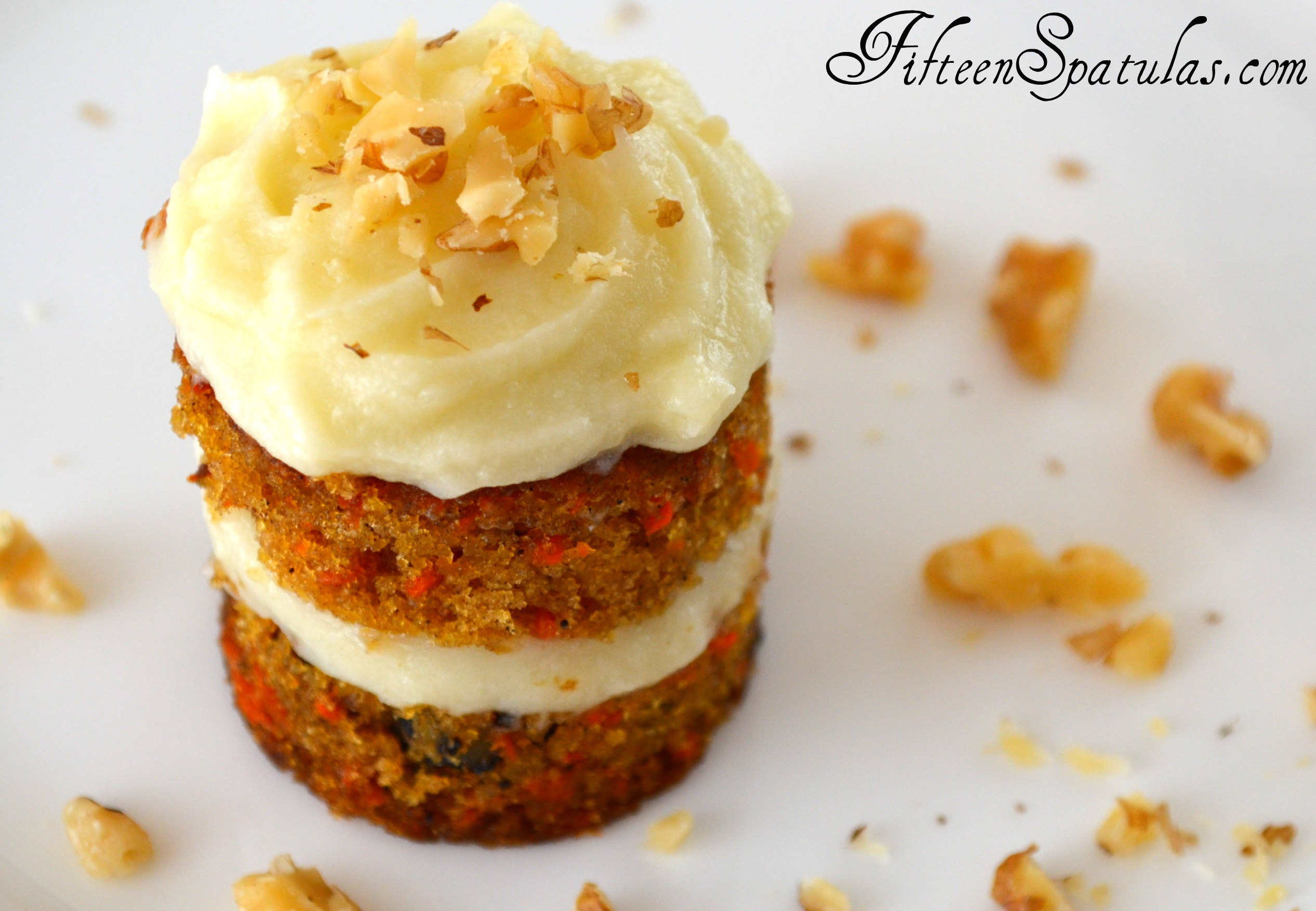 Petite Carrot Cakes with Whipped Mascarpone Frosting |